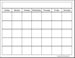 calendars blank generic calendar abcteach