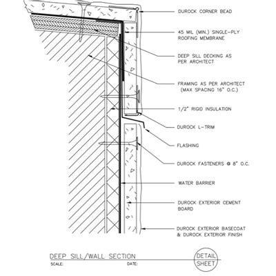 exterior wall section detail usg design studio shower base section download details