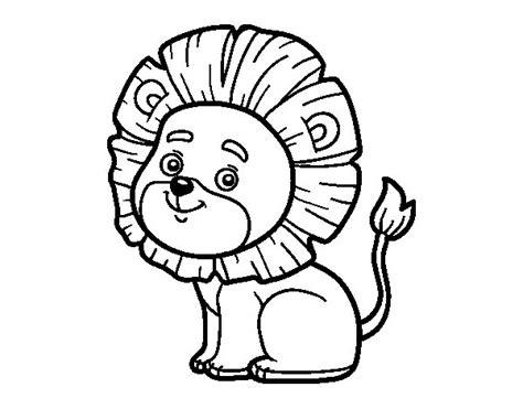 imagenes para dibujar un leon dibujo de le 243 n joven para colorear dibujos net