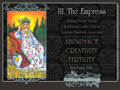Building Quotes empress tarot card meanings