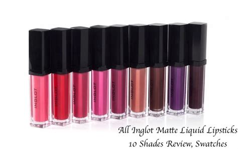 Lipstik Inglot all inglot hd lip tint matte liquid lipsticks 10 shades
