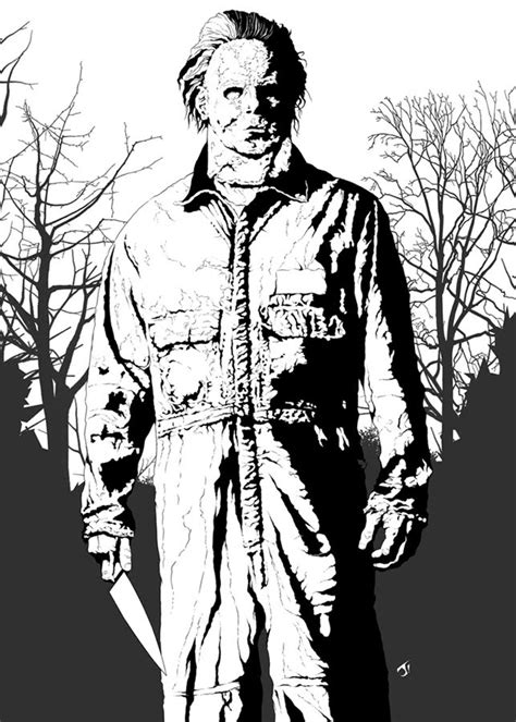 Michael Myers Coloring Pages A Rob Zombie Film Michael Myers Fan Art