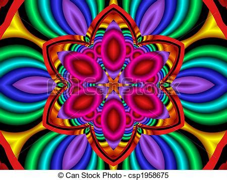 fiori allucinogeni stock illustrations of psychedelic flower power colorful