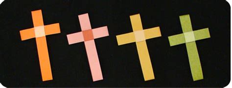 How To Make A Paper Cross - easter cross make origami