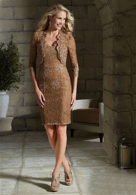 column strapless brown lace evening dress with