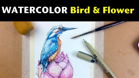 tutorial watercolor and ink watercolor ink tutorials how to draw paint a bird