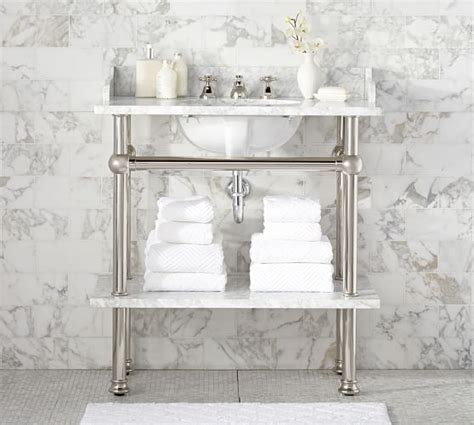 bathroom console sink apothecary single sink console pottery barn