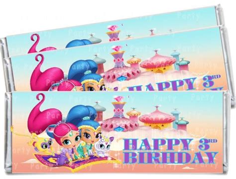 Shimmer For In This New Like Label by 16 Best Images About Shimmer And Shine Birthday On