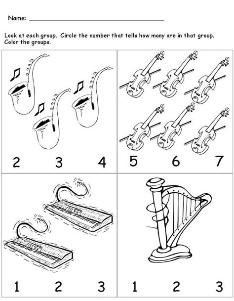 music pattern activities musical instruments worksheet for kids crafts and