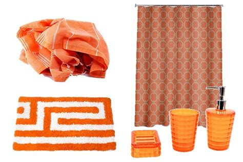 orange towels bathroom sheknows spacelifts decorating with orange