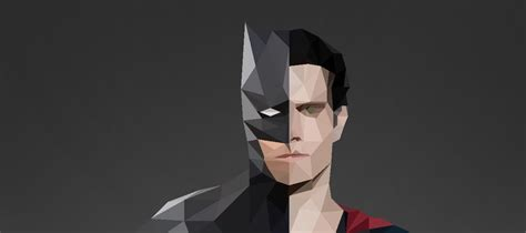 wallpaper batman low poly batman vs superman low poly by chedoy on deviantart