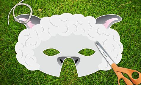 printable lamb mask white lamb sheep printable party mask easter printable pdf