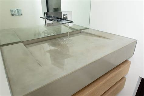 bathroom slope minimal slope concrete r sink with negative edge slot