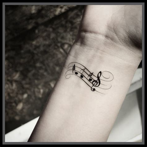 music note tattoo wrist www pixshark com images