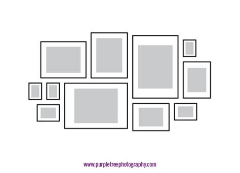 Picture Frame Arrangements Purple Tree Photography S Weblog Picture Wall Collage Template