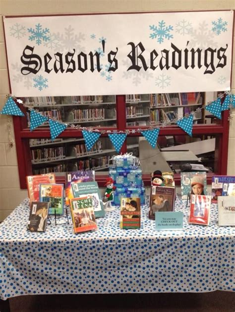 library book display ideas hubpages december book display library lesson planning