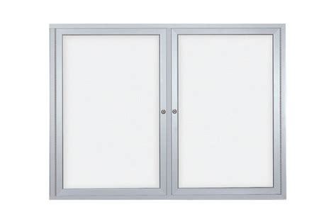 dry erase board cabinet enclosed dry erase board cabinets for indoor use