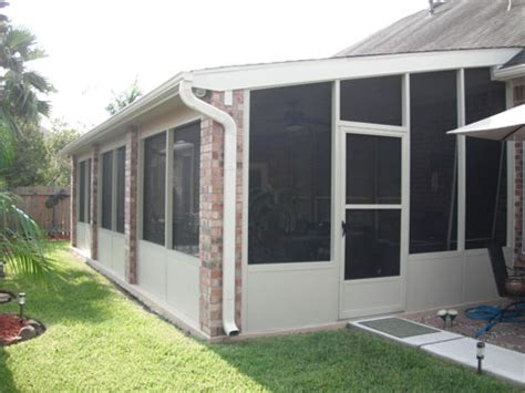 how much does a patio enclosure cost screened in patio in houston tx