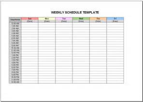 free weekly schedule template for excel 2007 2016