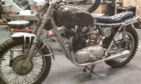 triumph motocross bike 1962 triumph bonneville dirt bike