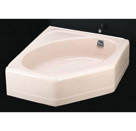 cast iron corner bathtub faucet com k 824 47 in almond by kohler