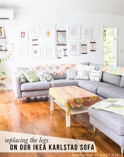 tutorial how to replace the legs on an ikea karlstad sofa