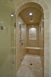 seeking pictures of narrow showers with 1 glass wall