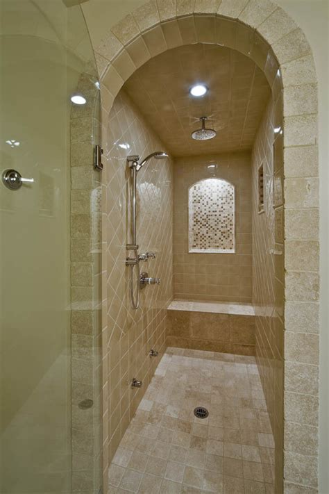 narrow shower door seeking pictures of narrow showers with 1 glass wall