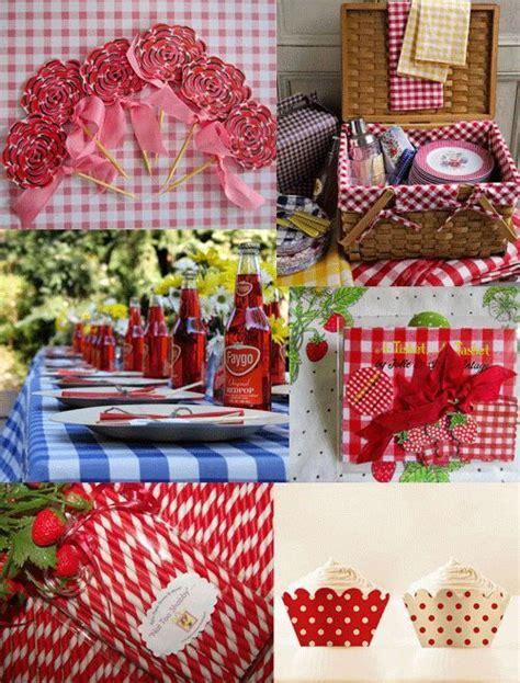 Sweet Sixteen Backyard Party Ideas Red Gingham Wedding Decorations Picnic Anyone Pinterest