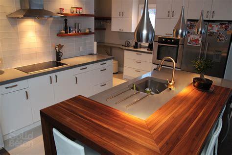 cuisine comptoir comptoir de cuisine en bois franc wraste