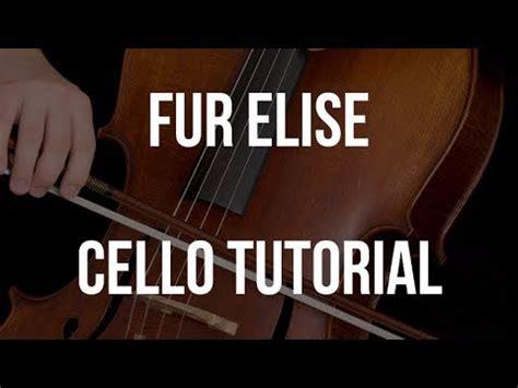 youtube tutorial fur elise cello tutorial fur elise youtube