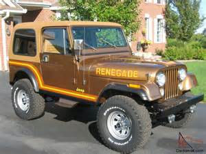 1985 jeep cj7 renegade nut and bolt restoration amc v8