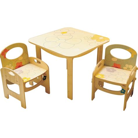 tavolo e sedie per bambini tavolo per bambini decoro fiori dida