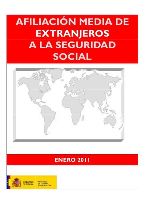 porcentaje de aportes a la seguridad social en colombia ao 2016 afiliaci 243 n media de extranjeros a la seguridad social