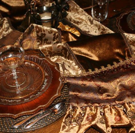 luxury damask table runner bronze velvet and damask luxury table runner is bordered
