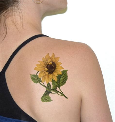 15 best sunflower tattoo designs with meanings