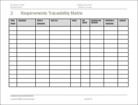 Test Plan Download Ms Word Excel Template Requirements Traceability Matrix Template
