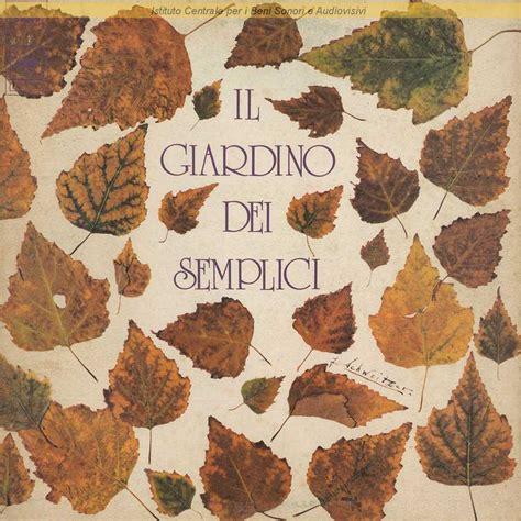 i giardino dei semplici discografia nazionale della canzone italiana