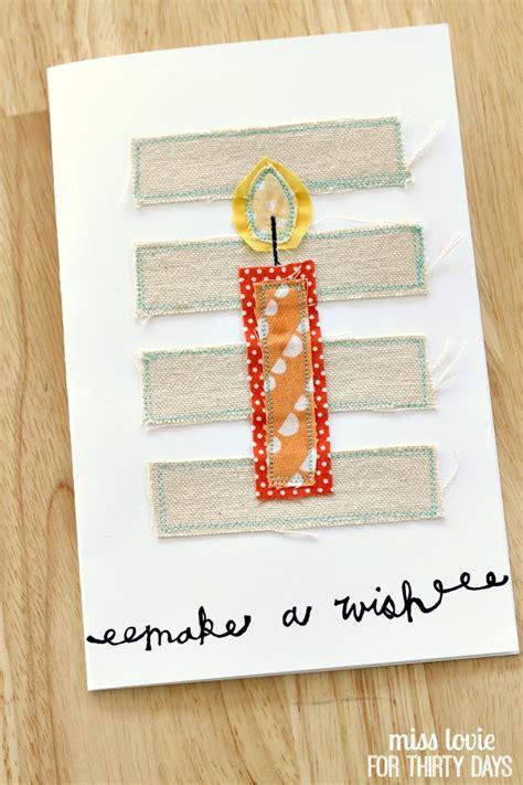 Sewn Cards Handmade - handsewn birthday cards