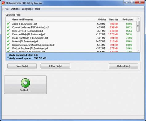 compress pdf less than 80kb compress pdf files with fileminimizer pdf