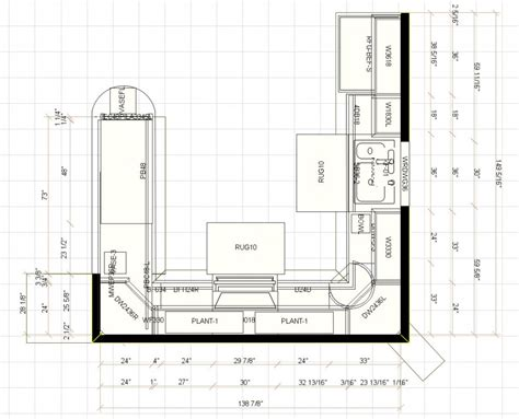 kitchen floor plans with dimensions graha perkayuan