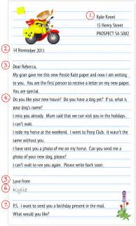 australia post our post lower primary writing a letter