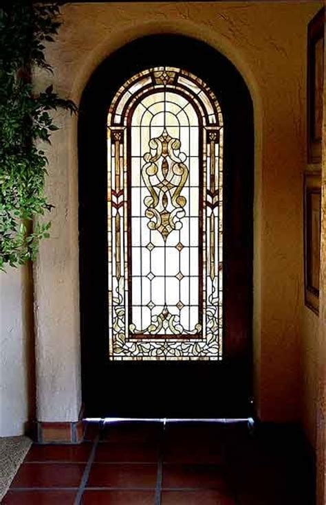 Sliding Interior Stained Glass Door In Sepia Tones Yelp Stained Glass Sliding Doors