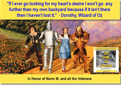 my own backyard road to success art of stillness wizard of oz dorothy