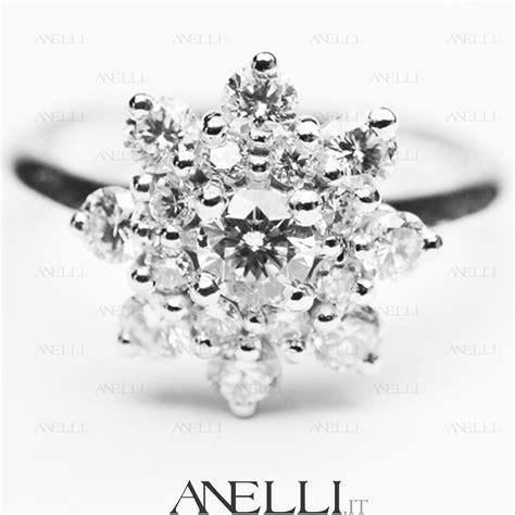 solitario dei fiori anelli anello a forma di fiore con diamanti