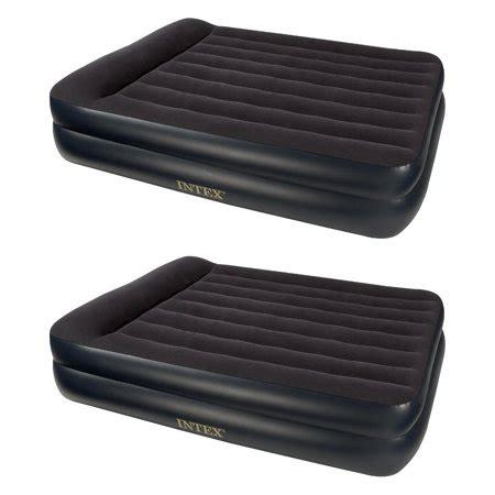 intex pillow rest queen size air bed mattress  built