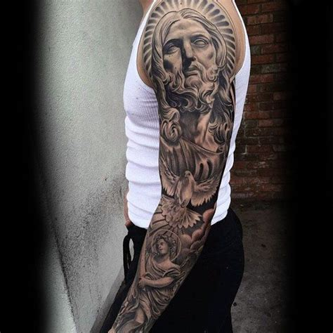 religious sleeves designs 1000 images 100 religious tattoos for sacred design ideas