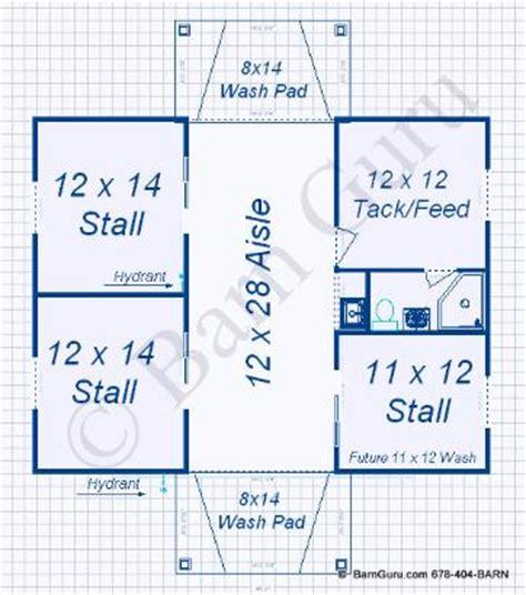 horse stall floor plans barn plans 3 stall horse barn monitor vs gable