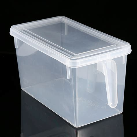 plastic storage containers for kitchen kitchen sealed crisper refrigerator plastic handle food storage box containers j ebay