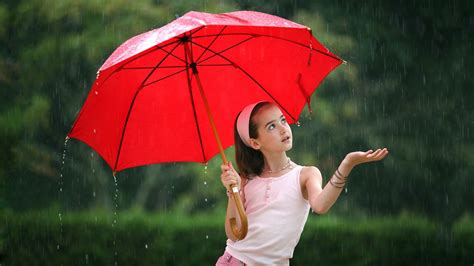 wallpaper hd umbrella girl girl umbrella red rain android wallpapers for free
